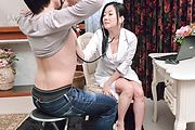 Busty Shino Izumi makes magic with her Asian blojob  Photo 2