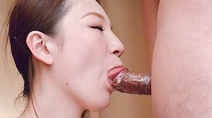 Tsubasa Takanashi provides Asian blowjob in top modes