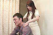 Horny Nana Nakamura provides special Asian blowjob  Photo 3