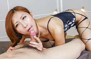 Reira Aisaki loves giving asian...