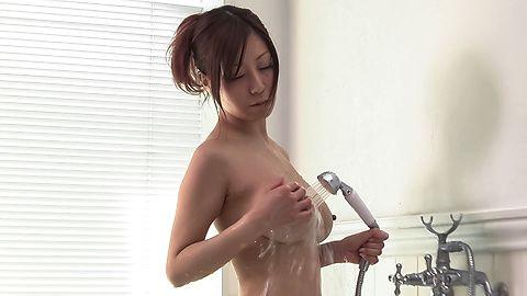 Chihiro Akino Asian amateur porn in solo scenes