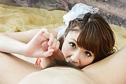 Amazing Asian blowjob scenes with Risa Mizuki Photo 4