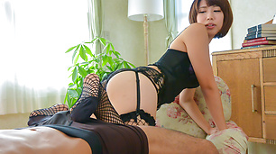 Asian lingerie model Seira Matsuoka in pov oral
