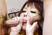 Yurika Miyachi amazes with her strong Asian blowjob Photo 3