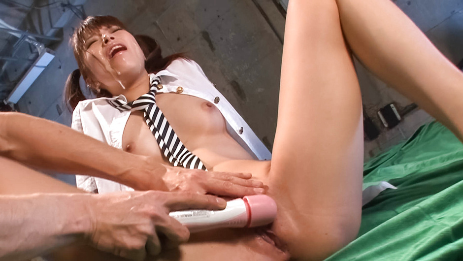 Hinata Tachibana - with cum on her face is toyed till she cums