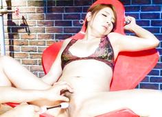 Asian dildos to please sleazyChieri Matsunaga
