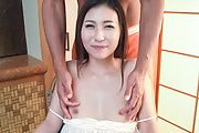 Asian blowjob on two heads for insolent Maya Kato Photo 2
