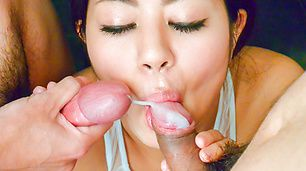 Warm Japanese blowjob with brunette Konatsu Hinata