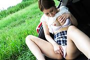Asian schoolgirl fucked and made to swallow in outdoor  Photo 11