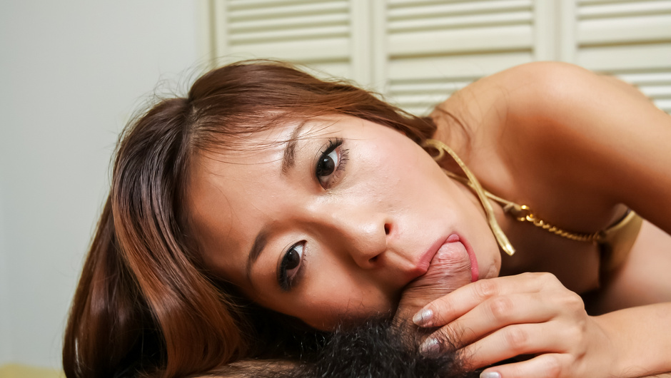Top Asian blowjob scenes with hot Risa Misaki