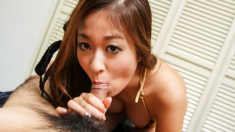 Cock sucking Asian girl craves to swallow