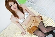 Nana Kinoshita banged hard in fishnet stockings Photo 1