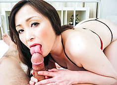 Miyama Ranko horny licks phallus head