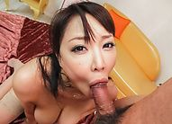 Japanese Mom Pov - Juri Sawaki Asian rubs her big and oiled bazoom bas with vibrator