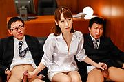 Asian milf, Nonoka Kaede, cock sucking at work Photo 2