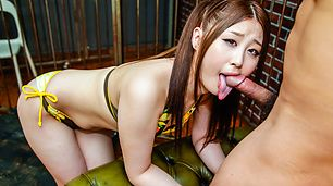 ASian blow job along dashing beauty Rena Arai
