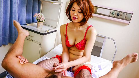 Japanese anal dildo makes Erika...