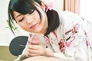 Superb Asian blowjob in close details with Reo Saionji Photo 10
