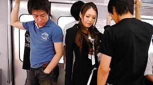 Wild China Mimura Sucks And Toy Fucks On A Bus