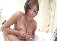 Busty and sexy teacher Hiyoko Morinaga tittie fucking!