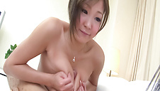 Ibuki in lace making her pussy wet with a vibrator
