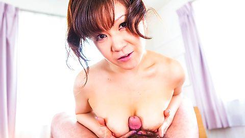 Ichika Asagirirubs boner with her boobs