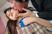 Schoolgirl in heats goes nasty on cock during hardcore  Photo 11