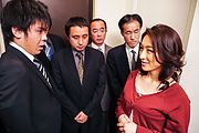 staggering gangbang for Asian milf in heats  Photo 1