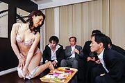 Big tits hottie enjoys group sex at work Photo 3