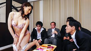staggering gangbang for Asian milf in heats