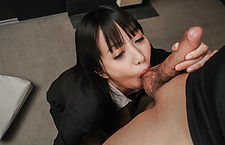 Asian milf blows cock in serious ways until cum on face  hot asian girls, asian tits, japanese girl