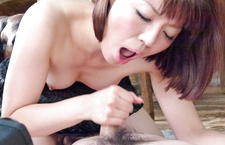 Izumi Manaka Gives A BJ After Fingering Herself
