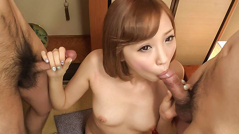 Asian blowjob video with petite Mei Mizuhara
