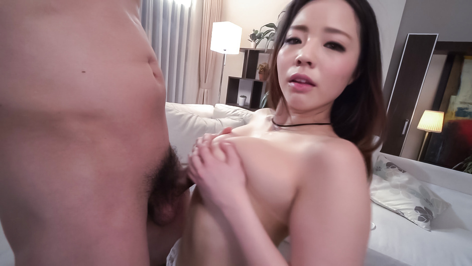Sweet Asian blowjob scenes with busty Mimi Aku