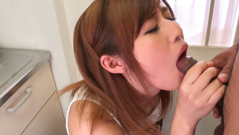 Soft Asian blowjob by insolent Yumi Maeda