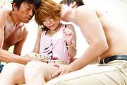 Threesome sex with a hot Japanese milf in need for cock  Photo 2
