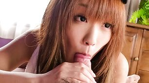 Sana Anzyu gives a great POV jav blowjob