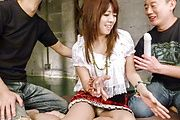 Asian anal in threesome with sensual Miyu Aoi  Photo 2