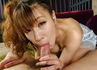 Asian milf blows cock like a true...