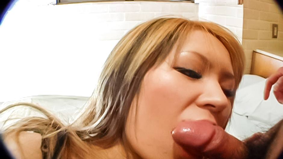 Hot Asian blowjob by steamy Japan babe, Hitomi