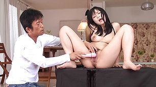 Two Dudes Give Nozomi Hatsuki Dicks To Feast On
