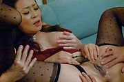 Busty Japanese milf banged in dirty threesome  Photo 8