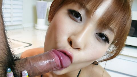 Misa Kikouden sucks dick in asian...