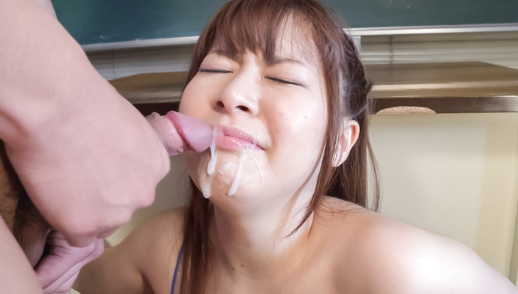 Satomi Nagase gets permeated with warm Japan cum