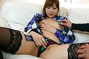 Rinka Aiuchi in japanese stockings rides for his cum Photo 3