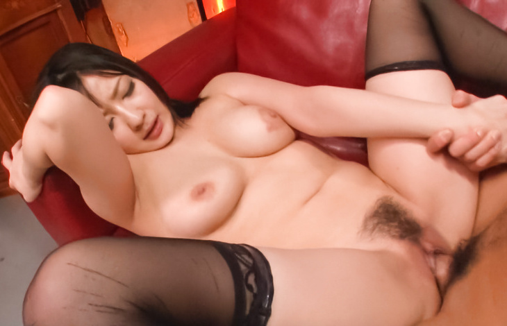 Megumi Haruka gives an asian blowjob and is fucked in stockings japanese women, asian hardcore