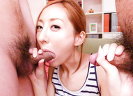Erena Aihara gives an asian blow...
