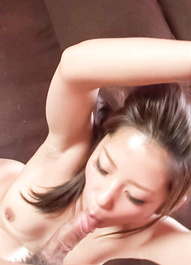 Satomi Suzuki Asian sucks boner and gets it in her tight beaver