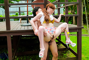 Premium Japanese outdoor sex with Aya Mikami