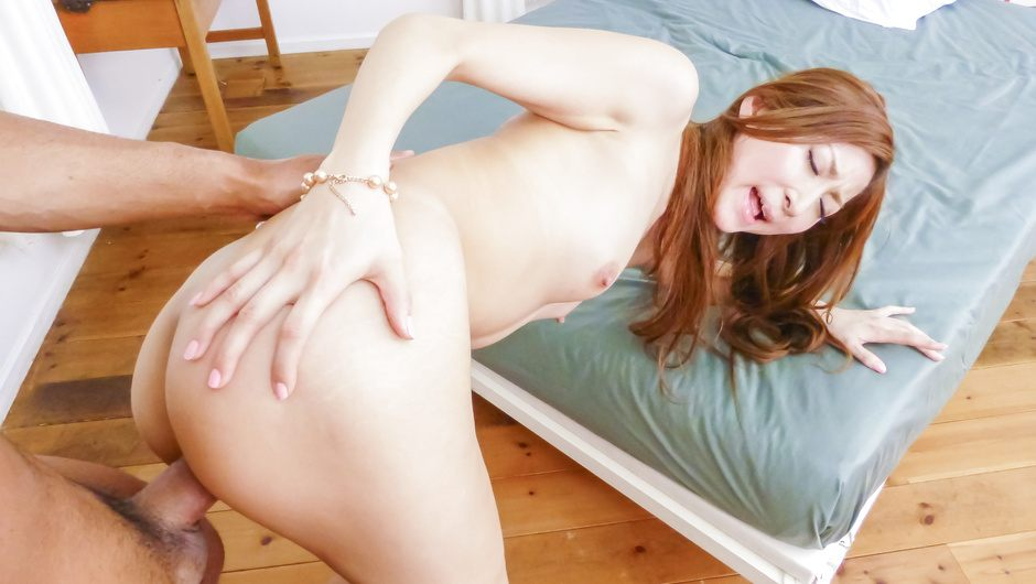 Asian milf blows and fucks until exhaustion